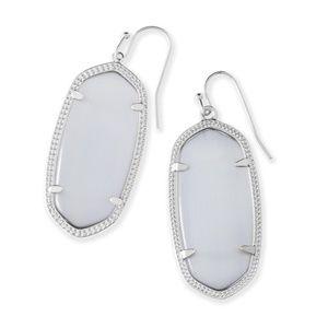 Kendra Scott Elle Earrings in Slate & Silver